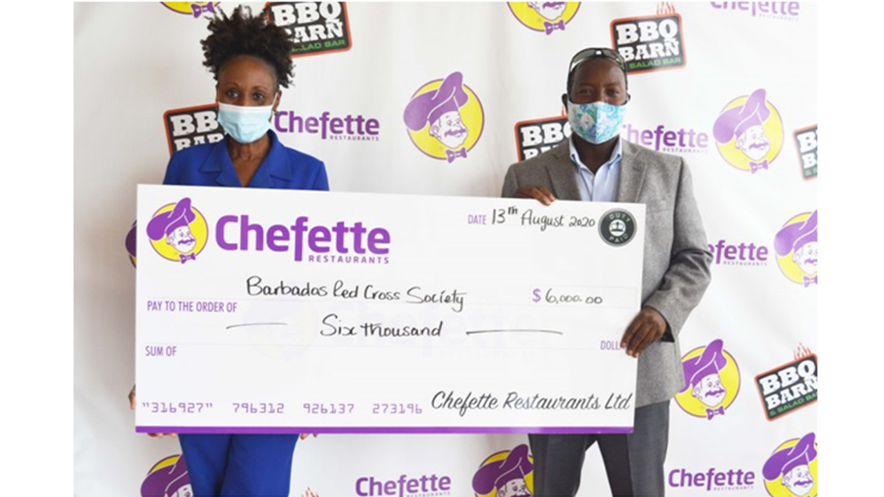 Chefette Donates to the Barbados Red Cross Society