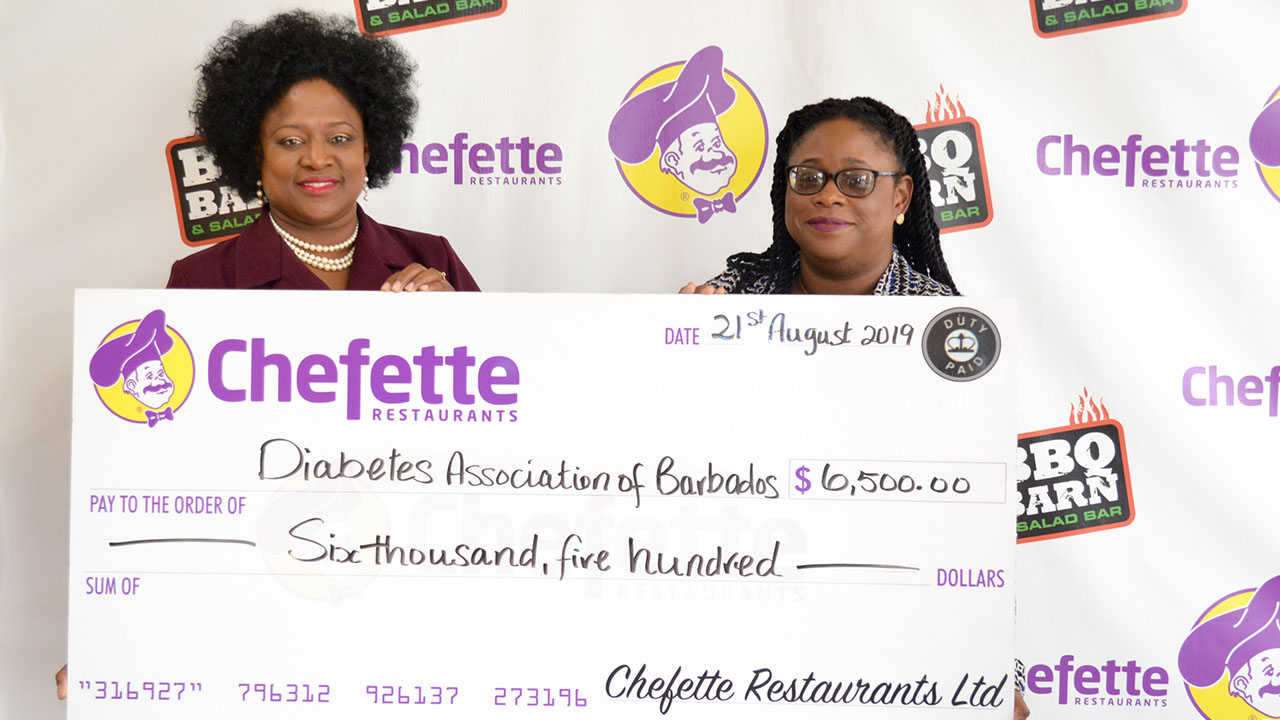 Chefette Assists the Diabetes Association of Barbados